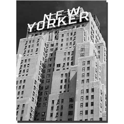 "Trademark Global Yale Gurney ""New Yorker"" Canvas Art, 19"" x 14"""
