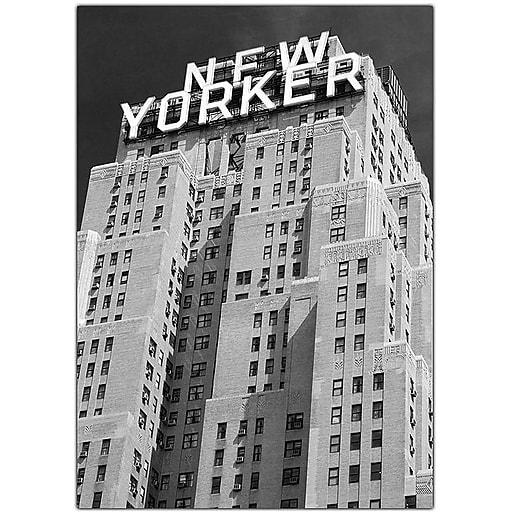 "Trademark Global Yale Gurney ""New Yorker"" Canvas Art, 47"" x 35"""