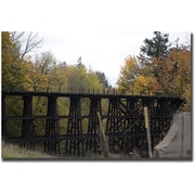 "Trademark Global Yale Gurney ""Country Bridge"" Canvas Art, 18"" x 24"""