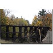 "Trademark Global Yale Gurney ""Country Bridge"" Canvas Art, 24"" x 32"""