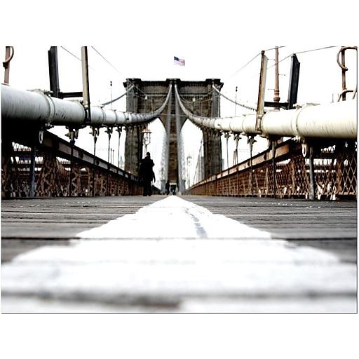 "Trademark Global Yale Gurney ""Brooklyn Bridge"" Canvas Art, 24"" x 32"""