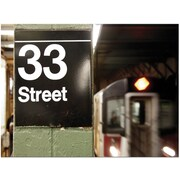 "Trademark Global Yale Gurney ""33 Street"" Canvas Art, 14"" x 19"""