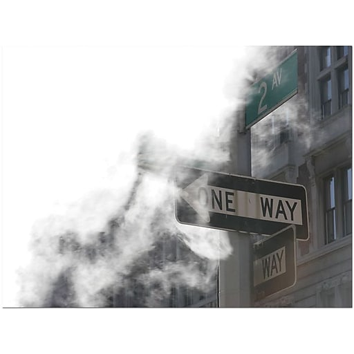 "Trademark Global Yale Gurney ""One Way"" Canvas Art, 24"" x 18"""