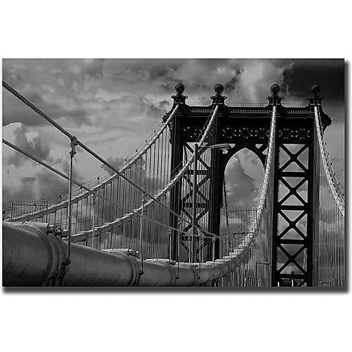 "Trademark Global Yale Gurney ""Manhattan Bridge"" Canvas Art, 35"" x 47"""