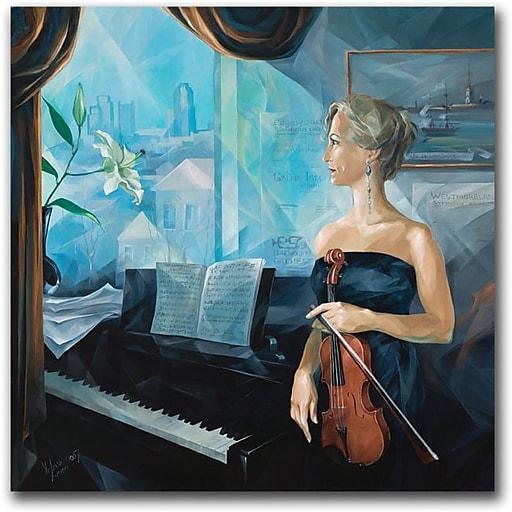 "Trademark Global Yelena Lamm ""Before the Concert"" Canvas Art, 35"" x 35"""