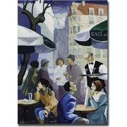 "Trademark Global Yelena Lamm ""Paris Cafe"" Canvas Arts"