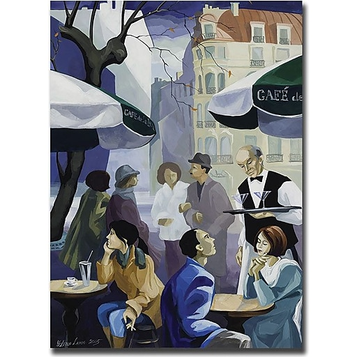 "Trademark Global Yelena Lamm ""Paris Cafe"" Canvas Art, 47"" x 35"""