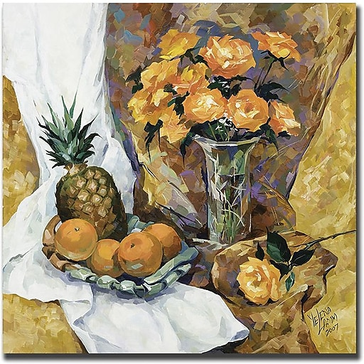 "Trademark Global Yelena Lamm ""Still Life with Pineapple"" Canvas Art, 24"" x 24"""