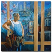 "Trademark Global Yelena Lamm ""Spring in Pittsburgh"" Canvas Art, 24"" x 24"""