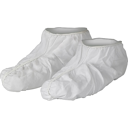 KleenGuard® A40 Fully Elastized Shoe Cover, Liquid/Particle Protection, White, Universal, 400/Ct