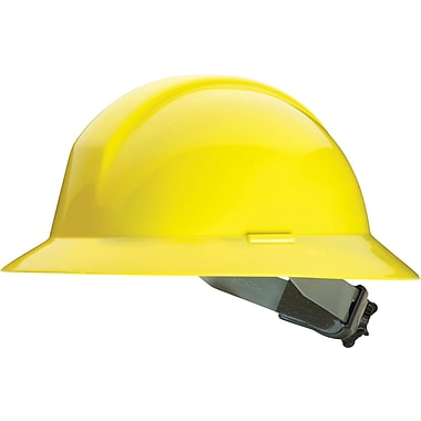 North Everest Series A49 Full-Brim Slotted Safety Helmet, Yellow