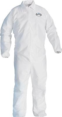 KleenGuard A40 Liquid Apparel Coveralls, Large, White, Large, 25/Carton