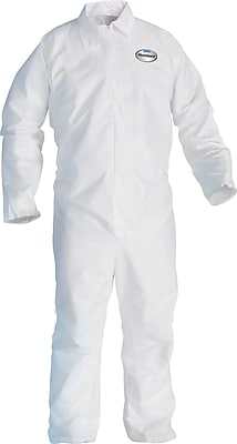 KleenGuard A20 Breathable Coveralls, Large, Front Zipper, 24/Carton
