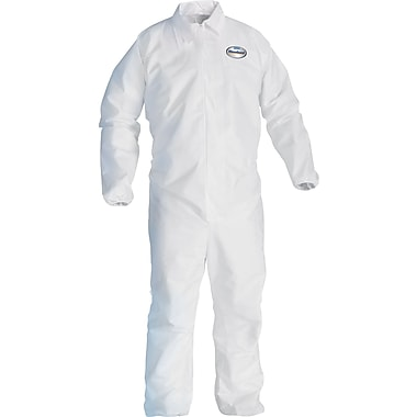 KleenGuard A20 Breathable Coveralls, Large, White, 24/Carton