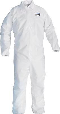 KleenGuard A20 Breathable Coveralls, Medium, White, 24/Carton