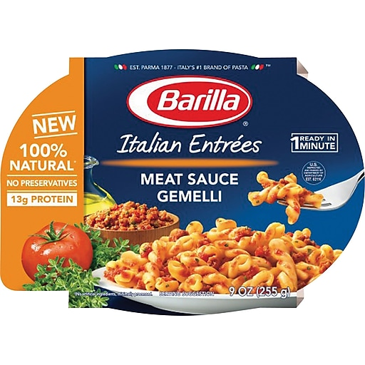 Barilla Italian Entrees, Meat Sauce Gemelli, 6 Packs/Box