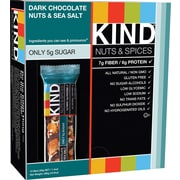 KIND Dark Chocolate Nuts & Sea Salt Bars, 1.41 oz. Bars, 12 Bars/Box