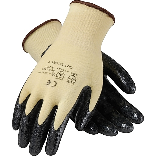 KutGard® Coated Work Gloves, Seamless Knit Cut Resistant Nitrile With Kevlar® & Lycra®, Small, 12/Pair (09-K1450/S)
