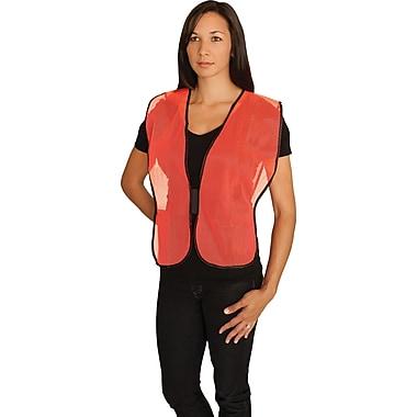 PIP Hi-Vis Safety Vest, Non-ANSI, Hook & Loop Closure, Orange, One Size
