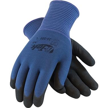 G-Tek ActivGrip Seamless Knit Work Gloves, Nylon With Nitrile MicroFinish Coating, Medium, Blue & Black, 12 Pairs