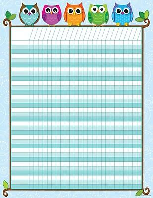 Carson-Dellosa Publishing 114197 Colorful Owls Incentive Chart