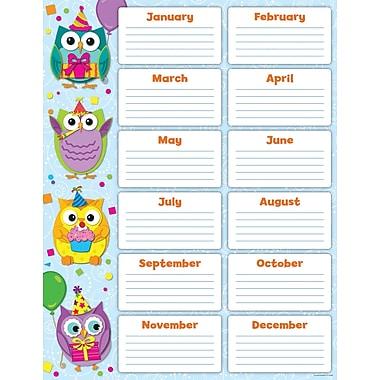 Carson-Dellosa Colorful Owls Birthday Chart