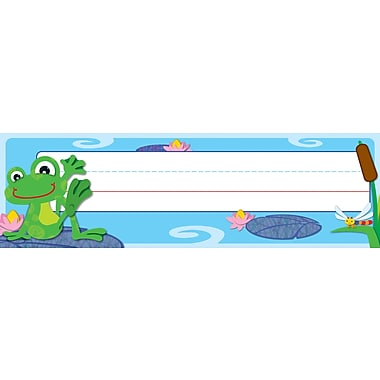 Carson-Dellosa FUNky Frogs Nameplate, 30/pack (119031)