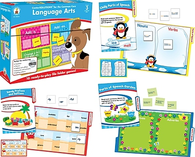Carson-Dellosa Language Arts File Folder Game, Grade 3