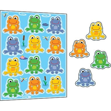 Carson-Dellosa FUNky Frogs Stickers, 72/Pack