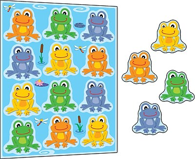 Carson-Dellosa FUNky Frogs Stickers, 72/Pack