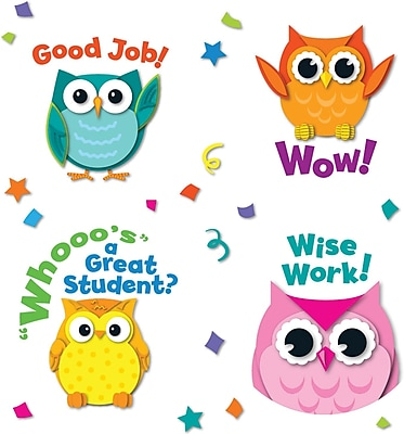 Carson-Dellosa Colorful Owl Motivator Stickers