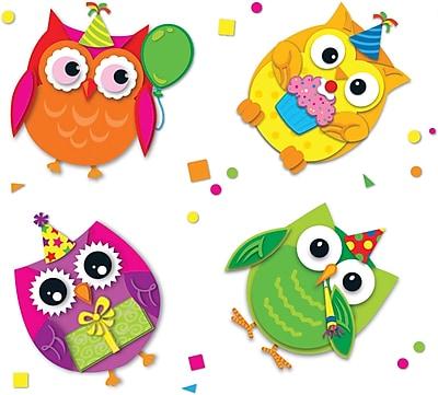 Carson-Dellosa Celebrate with Colorful Owls Stickers