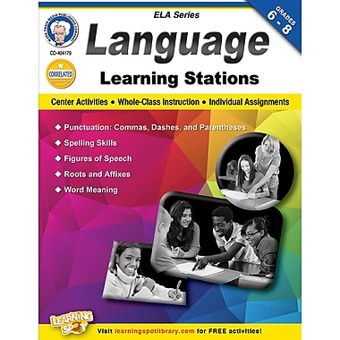 Carson-Dellosa Mark Twain Language Learning Stations Workbook (404179)