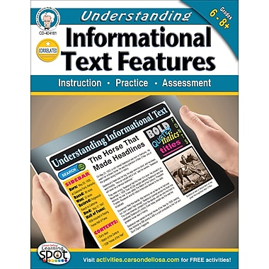 Carson-Dellosa Mark Twain Understanding Informational Text Features Workbook (404181)