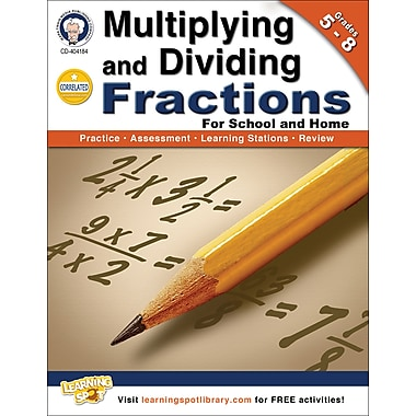 Carson-Dellosa Mark Twain Multiplying and Dividing Fractions Workbook (404184)