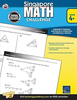 Frank Schaffer Singapore Math Challenge Workbook, Grades 4 - 6