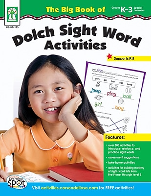 Key Education The Big Book of Dolch Sight Word Activities, Workbook