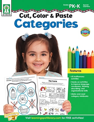 Key Education Cut, Color & Paste Categories, Workbook