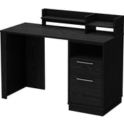 South Shore™ Academic Desk, Black Oak