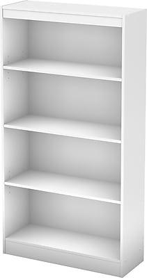 South Shore™ Work ID 4-Shelf Bookcase, White