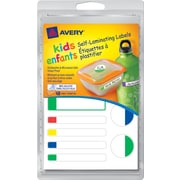 Avery® Kids Self-Laminating Labels, 48/Pack