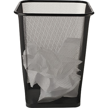 Waste Basket brighton professional black wire mesh square wastebasket, 4.4 gal