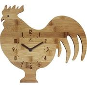 Infinity Instruments Pork Chop Wall Clock, Bamboo