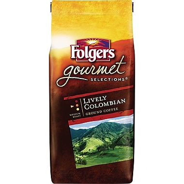 Folgers Gourmet Selections® Ground Coffee, Lively Colombian, 10 oz. Bag