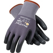 G-Tek MaxiFlex Endurance Seamless Knit Work Gloves, Nylon Liner With Micro-Foam Nitrile Coating, L, Dark Gray & Black