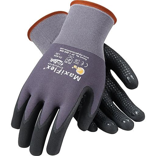 G-Tek® Coated Work Gloves; MaxiFlex® Endurance Seamless Nylon Knit Liner w/Nitrile Coating, SM, 12Pr
