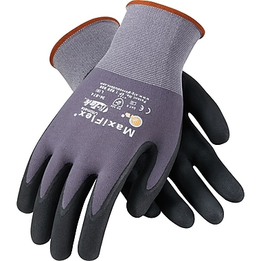 G-Tek® Coated Work Gloves; MaxiFlex® Ultimate™ Seamless Nylon Knit Liner, Nitrile Palm & Tip Coat, L