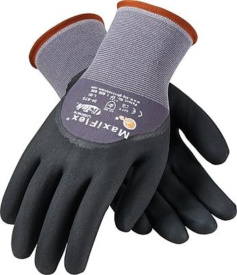 G-Tek Coated Work Gloves; MaxiFlex Ultimate Seamless Nylon Knit Liner, 3/4 Nitrile Coating, XL, 12Pr