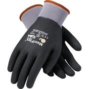 G-Tek MaxiFlex Ultimate Knit Work Gloves, Nylon Liner Micro-Foam Nitrile Coating, M, Dark Gray & Black, Dozen