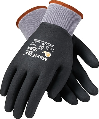 G-Tek® Coated Work Gloves; MaxiFlex® Ultimate™ Seamless Nylon Knit Liner W/Nitrile Coating, LG, 12Pr